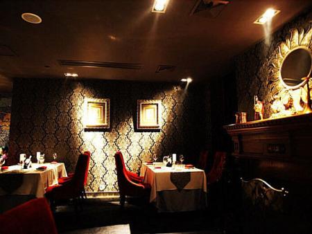 黑色茶餐厅装修效果图