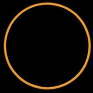 月球中心离日轮中心最近时称为食甚。