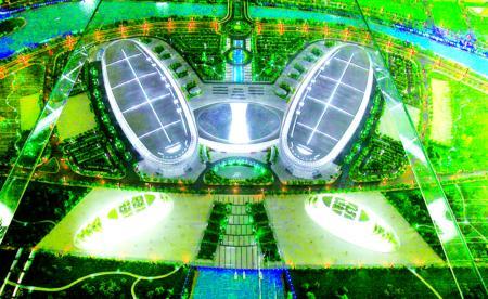 """海峡国际会展中心主体封顶 形似""""蝴蝶"""""""