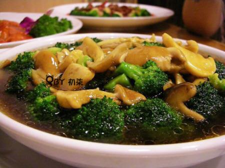 菌菇西兰花
