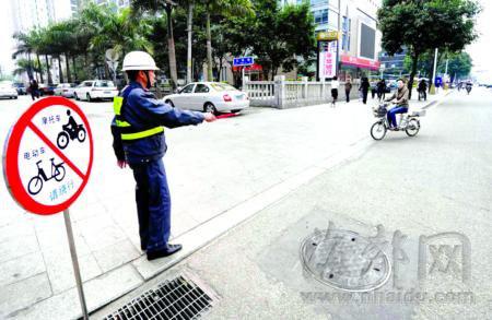 4月6日起 福州电动车违规闯限行将从重处罚(图)