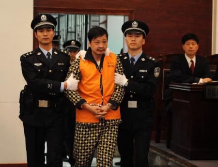 直击福建南平凶杀案审判 砍杀8学童疑犯表现嚣张(组图)