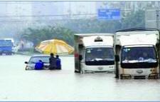 一场大雨福州全城拥堵