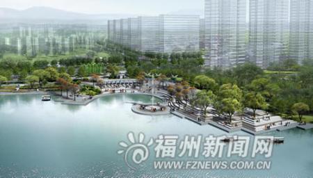 福州五四北琴亭湖开挖过半 明年汛期时有望投用(图)