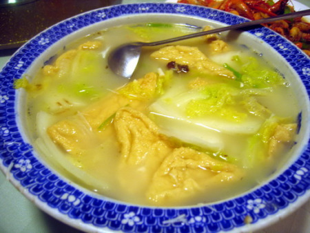 油豆腐大白菜汤-以贵出名 福州吃莆仙菜首选宜水居