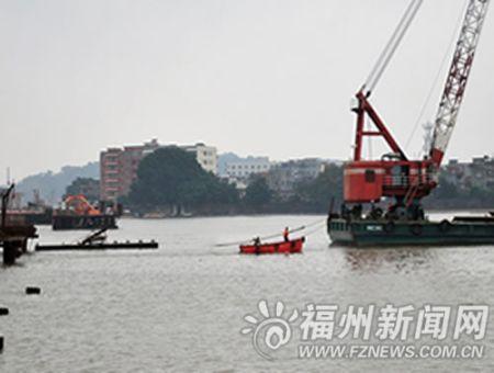 螺洲大桥150米钢栈桥被撞毁 千吨运砂船肇事逃逸(图)
