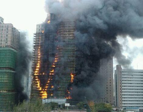 上海高层住宅突发大火