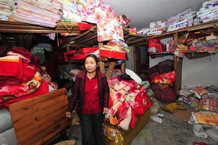 许多商住楼,易燃货物都堆在家中