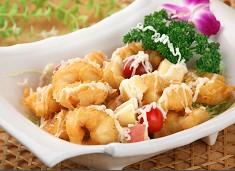 水果沙律虾球