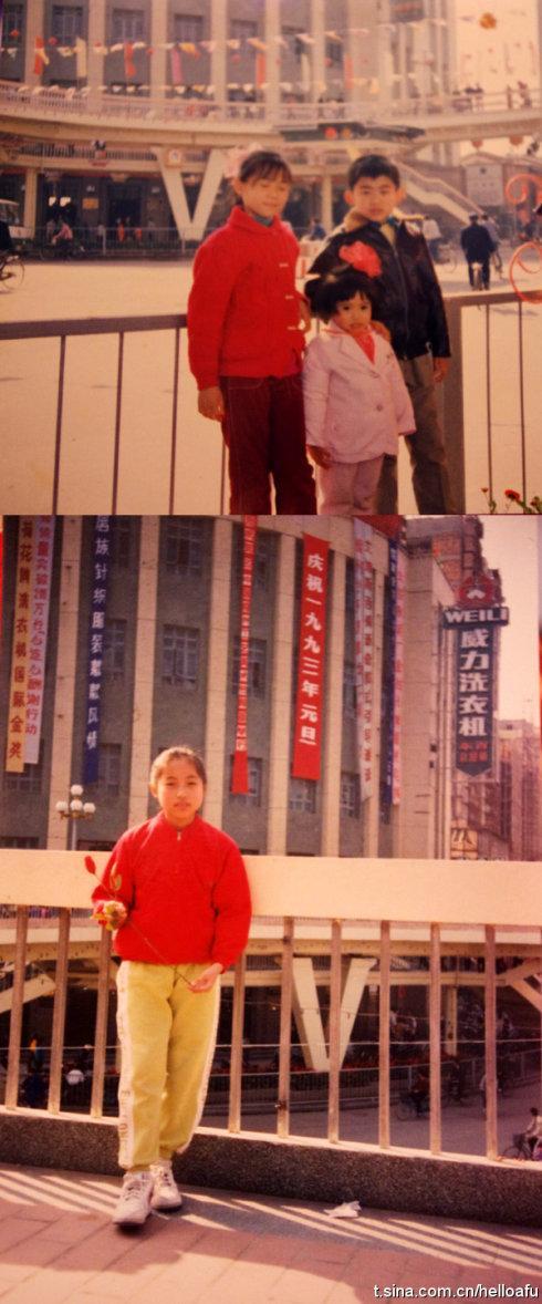 网友Kerorororooooo晒出了自己当年在东街口天桥留影的老照片,身后就是东百旧楼
