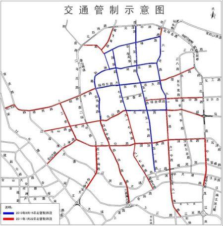 禁摩限电扩大范围新增16条路、7座跨江大桥。