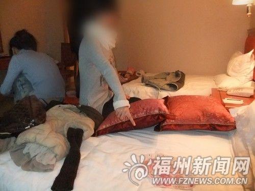 两女孩酒店内贩毒被抓