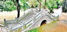 东湖泉塘桥如今相连屏山公园内的小道