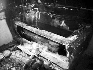 浴缸被烧毁
