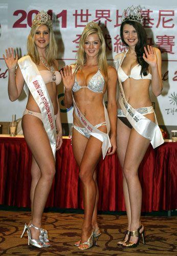 海外佳丽为世界比基尼模特决赛在台举行造势(组图)