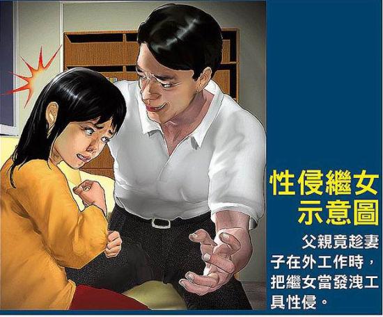 台一狼父性侵2名年幼继女长达4年 遭判刑120年(图)
