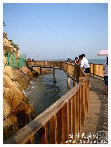 环岛路海边木栈道 礁石之上风景独好