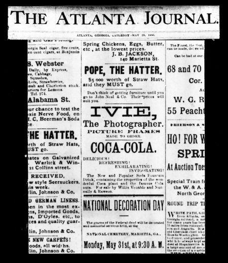 1886年刊发首支报纸广告