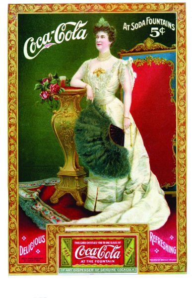 著名歌剧演员希尔达克拉克成为可口可乐首位明星代言人出现在形式多样的广告中