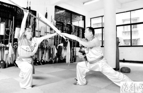 莆田传统武术器械对练