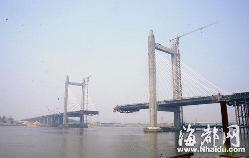 九月二十日,林浦大桥的主跨将合龙