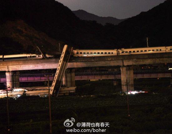 7月23日晚上20点34分,一趟杭州开往温州方向的动车组列车在温州双屿下岙路段发生脱轨,两列车厢掉落桥下。