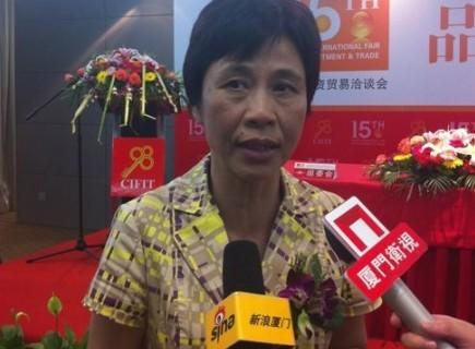 黄菱副市长接受采访