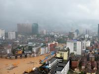 南玛都来袭 福建莆田全城被淹