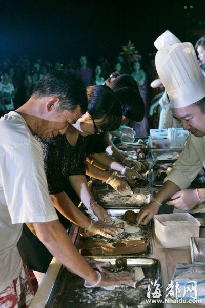 香格里拉的大厨师现场教大家做冰皮月饼