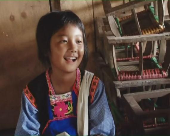 资助基诺族女孩