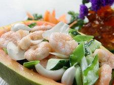 木瓜百合熘鲜虾