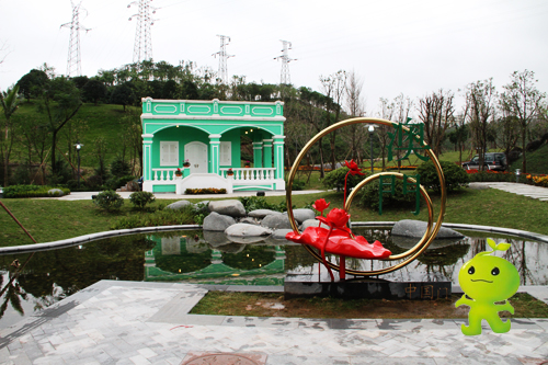 颇有葡萄牙风情的绿色小屋