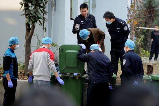 合肥一小区发生碎尸案 垃圾桶现人手