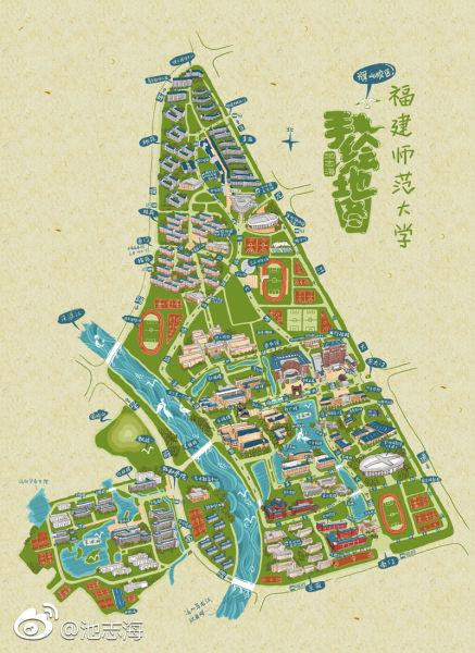 福建师范大学手绘地图
