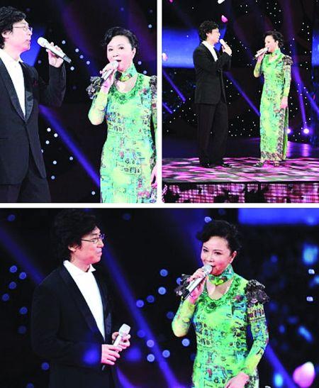 央视元宵晚会,蔡明、廖昌永挑战王菲、陈奕迅。(网络图)