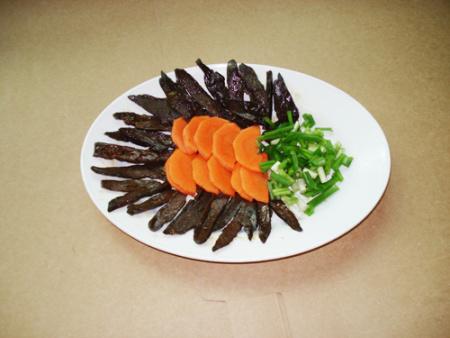武平猪胆干:宴席冷盘名菜
