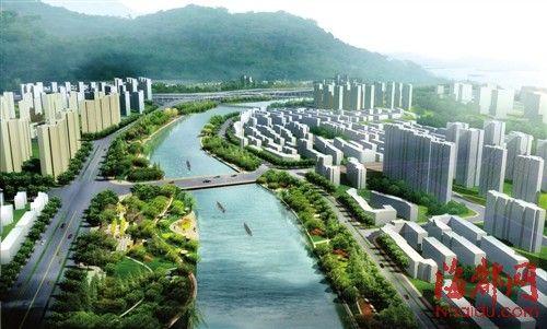 新光明港效果图-福州光明港将建榕城大型公园 拟建榕最长慢行道高清图片