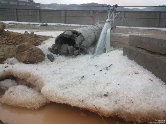 福建三明南平遭暴雨冰雹袭击 1.8万人受灾