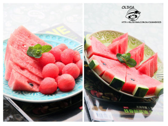 宴客果盘花样西瓜的五种优雅切法
