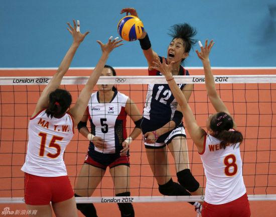 中国女将迎战韩国队