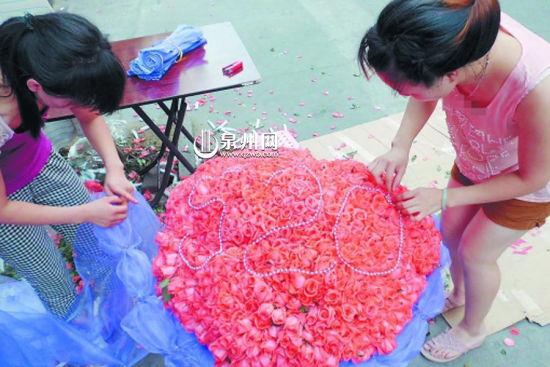 999朵玫瑰引人注目