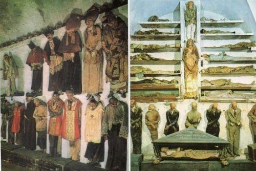 组图:坟墓里找乐子意大利地下千具神秘木乃伊
