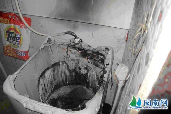 洗衣机已被烧毁