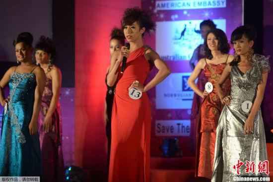 尼泊尔举办变性人选美大赛(组图)