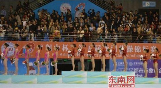 中国队获得第五届亚洲体操锦标赛女子团体冠军