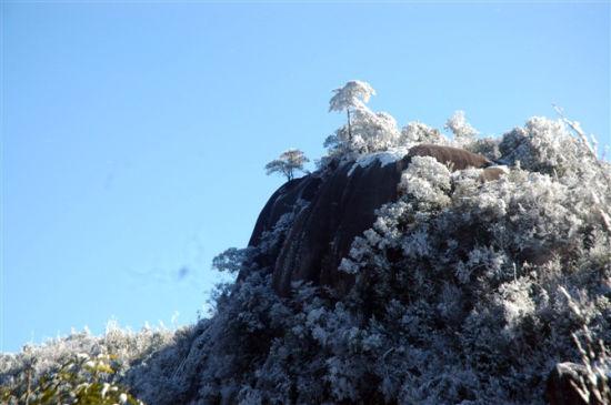 建瓯蟹龙岗 冰雪覆盖下的古城美景