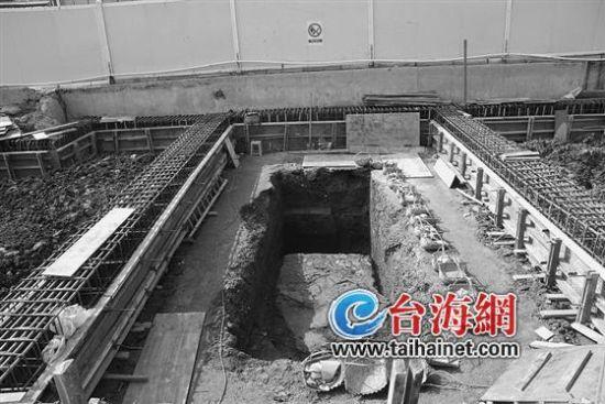 闽越王城宫殿遗址挖掘现场