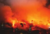 福州露天木材加工场大火