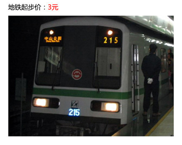 地铁起步价:3元