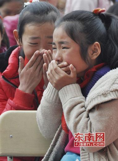 学生现场飙泪